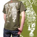 ジャポリズム 半袖和柄Tシャツ竹虎図