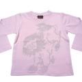 ジャポリズム キッズ長袖和柄Tシャツ 唐獅子図-薄ピンク